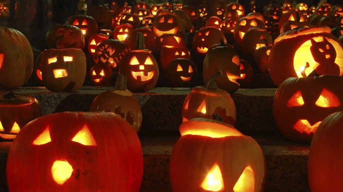 """We have pumpkins at morning and pumpkins at noon, If it were not for pumpkins we should be undoon."" By Stephanie Butler"