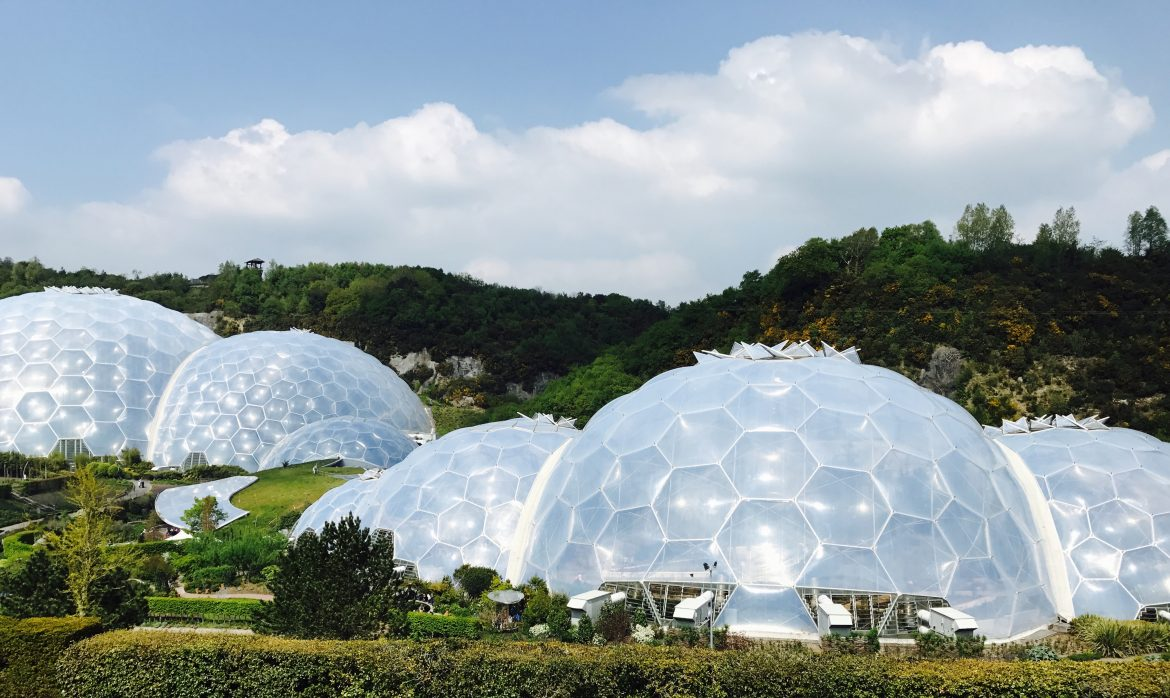 Eden Project Biomes in Cornwall, England